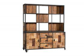 Wheels Cabinet 2 doors, 3 drawers