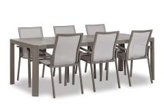 Reese Diningset light grey. Inclusief tafel en 6 stoelen