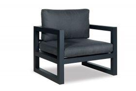 Winchester fauteuil inclusief zit- en rugkussen Antraciet