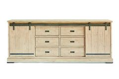 Harlow Dresser 2 sliding doors, 6 drawers