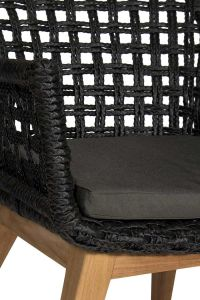 Cushion for Noemi Outdoor diningchair Zwart