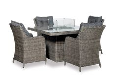 Santa Rosa Diningset with fire table